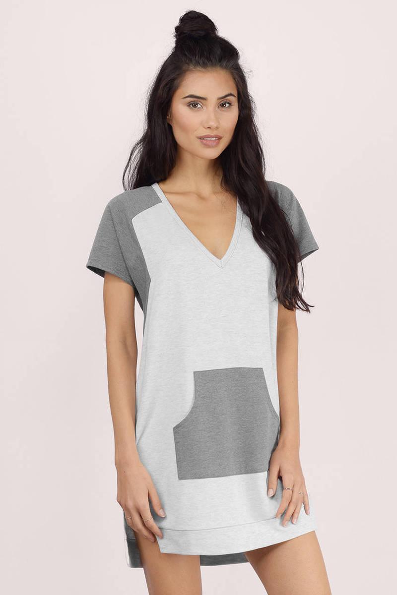 It Girl Grey Sweatshirt Dress