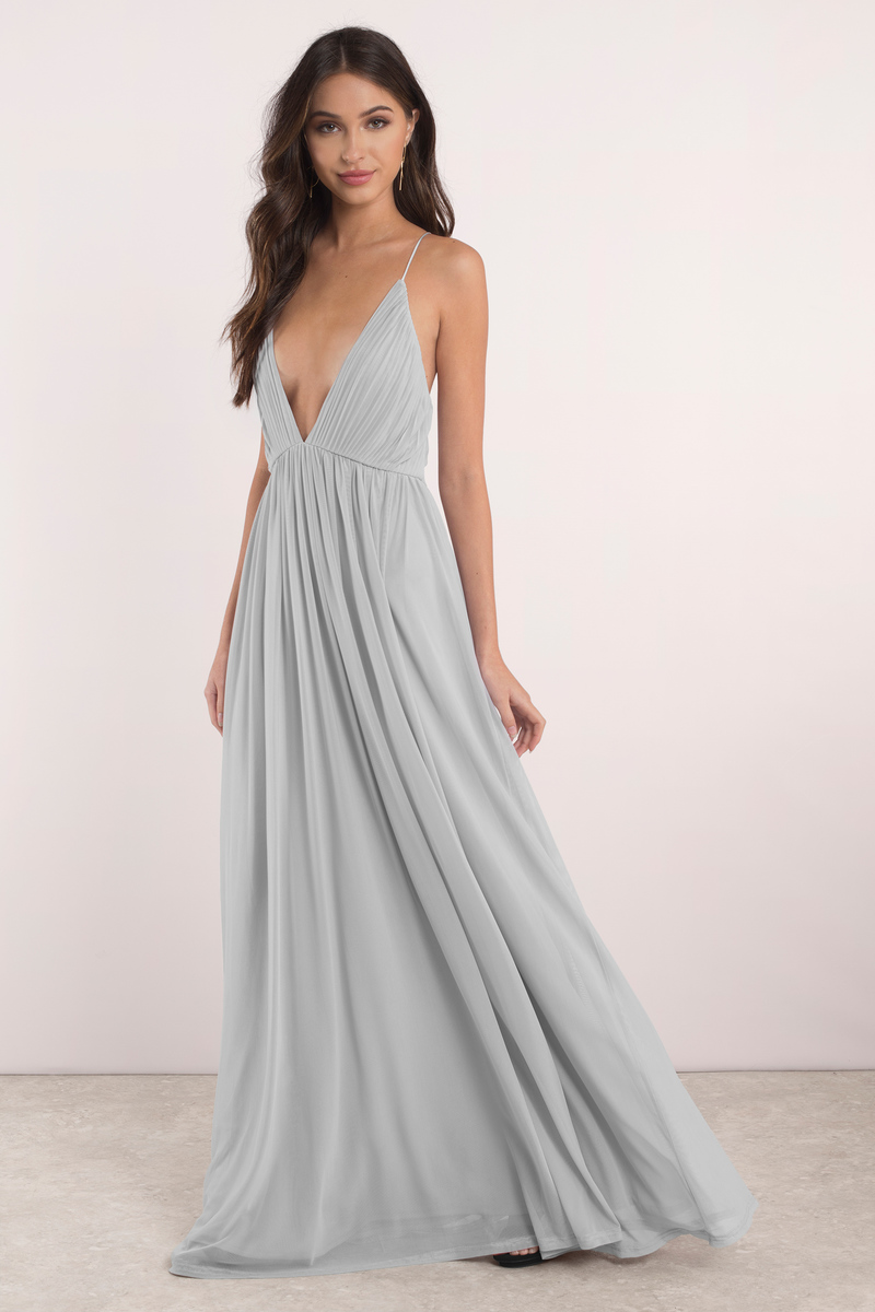 Jamee Grey Maxi Dress