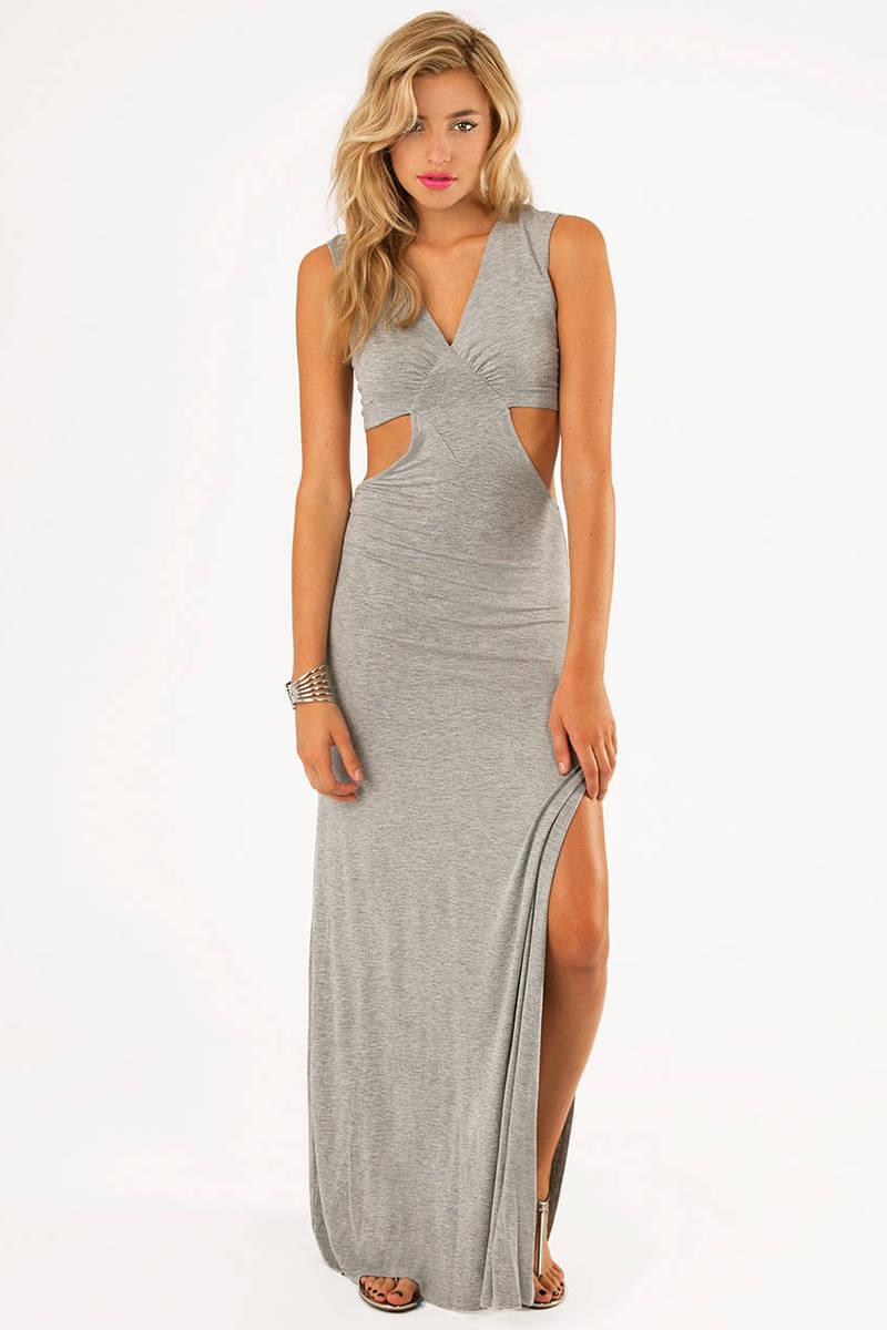 Janice Side Slit Maxi Dress