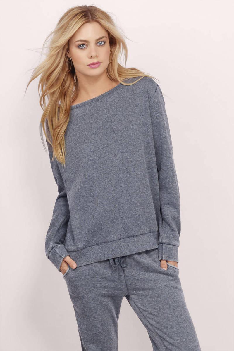 Jiselle Grey Sweatshirt