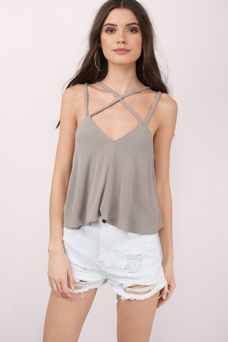 Kristie Grey Criss Cross Tank Top
