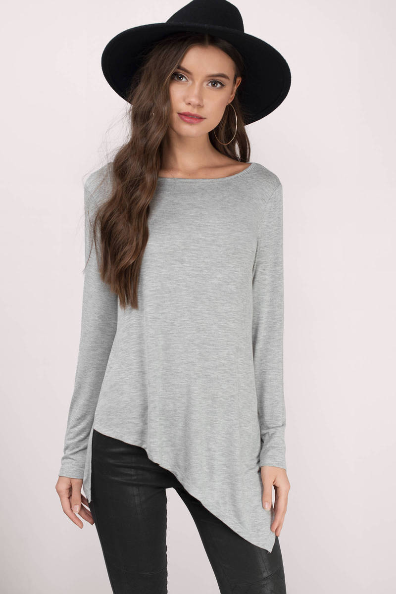 Look Up Grey Blouse