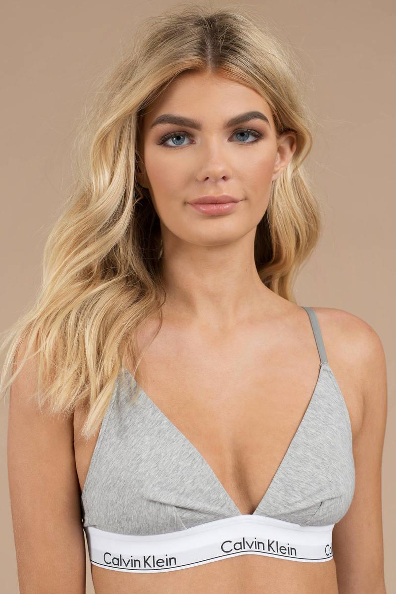 fbb8146ab4 Grey Calvin Klein Bra - Triangle Bralette - Grey Designer Bra - £38 ...