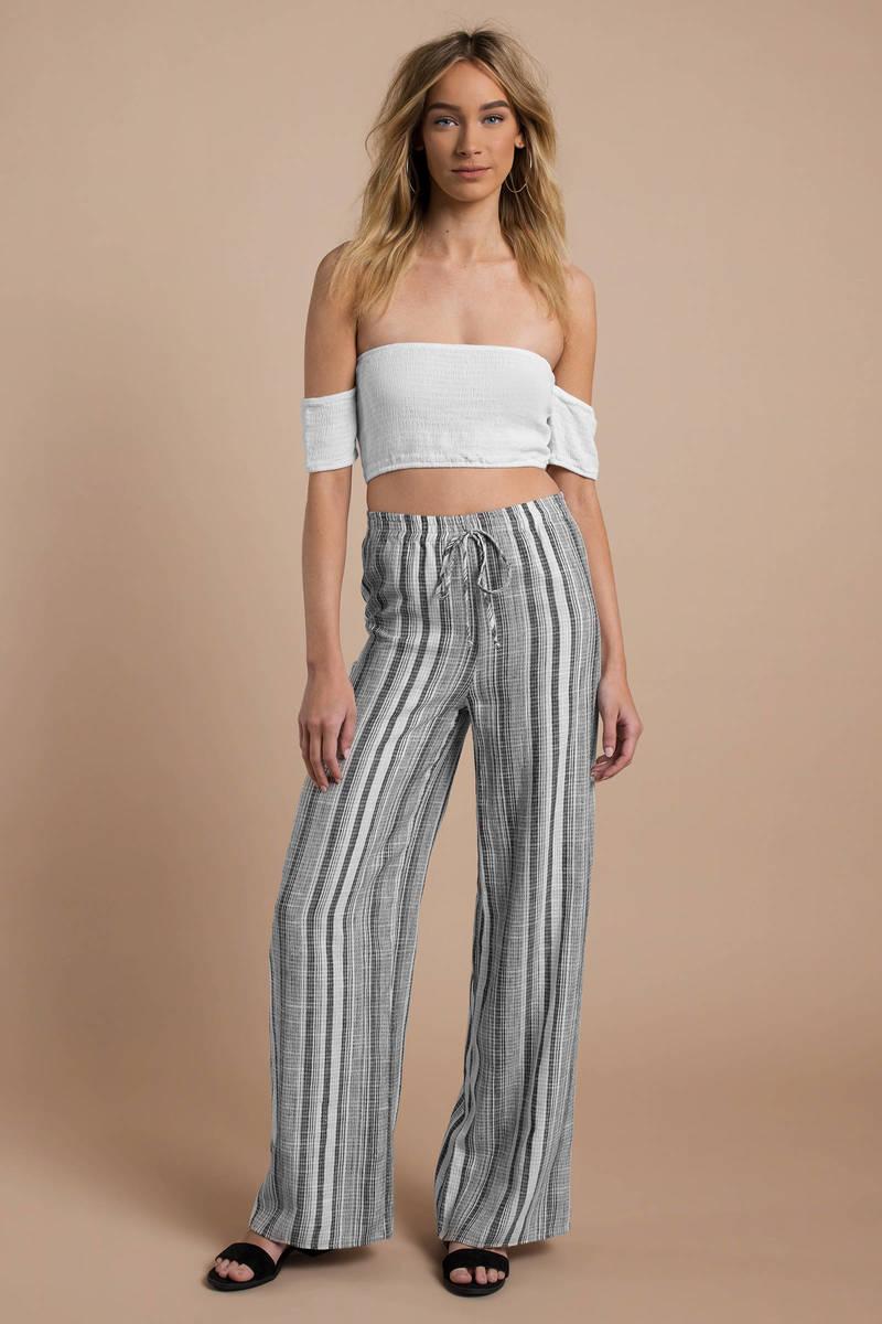 110eab268f Blue Pants - Beach Pants - Blue Striped Pants - Striped Sweatpants ...