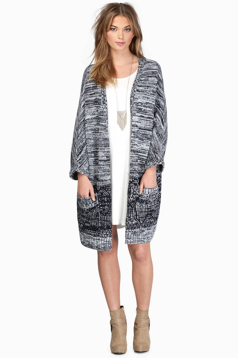 Just About Right Grey Multi Cardigan