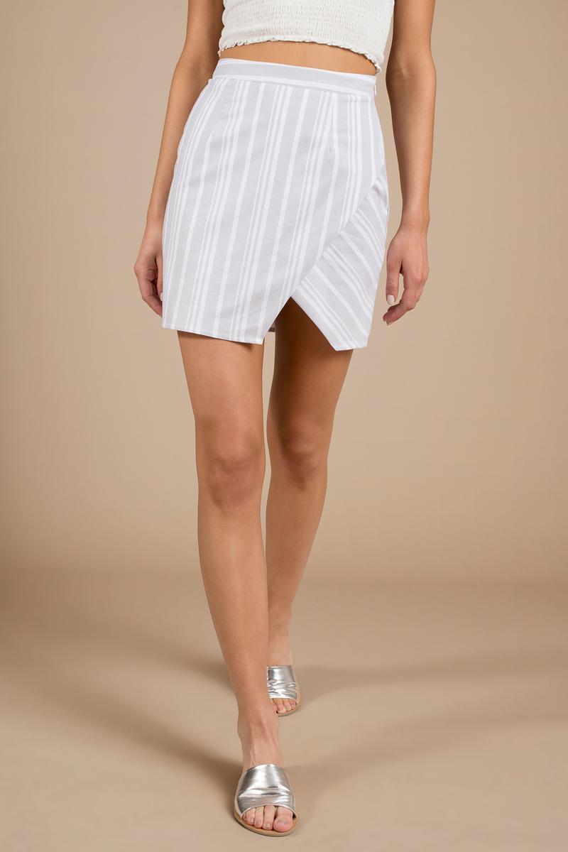 Remember Me Grey Multi Stripe Skirt