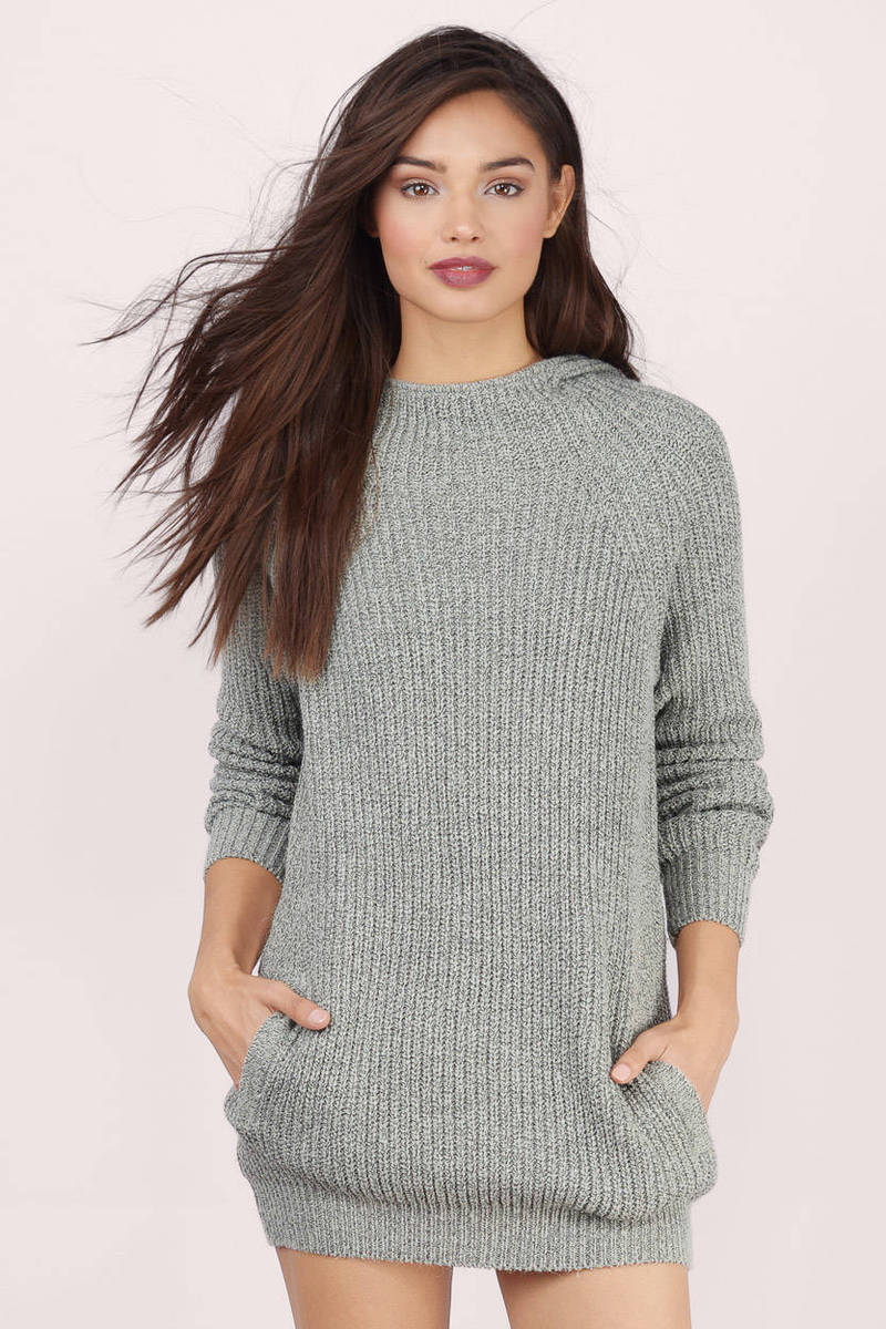 Cheap Grey Sweater - Long Sleeve Sweater - Grey Sweater - NZ$ 36 ...