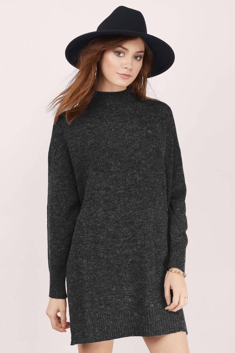 Prague Mock Neck Sweater Dress