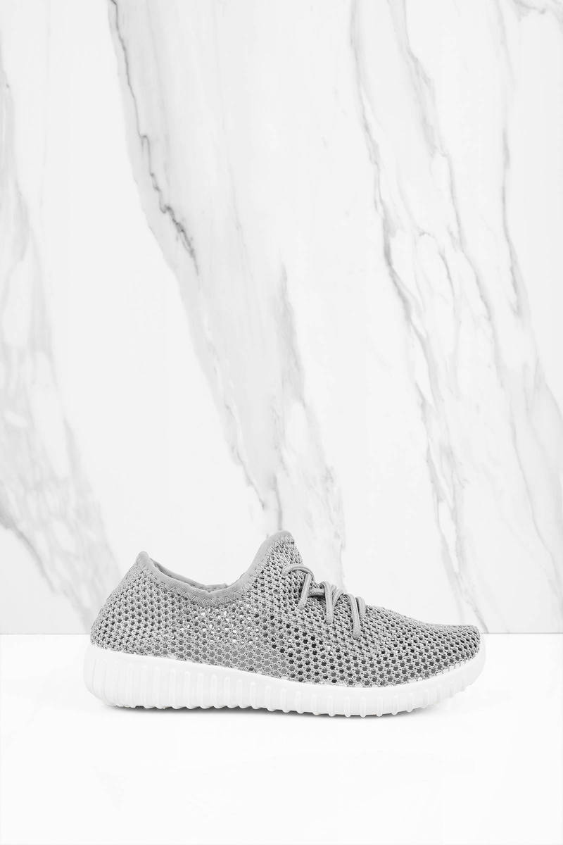 Reckless Grey Mesh Sneakers