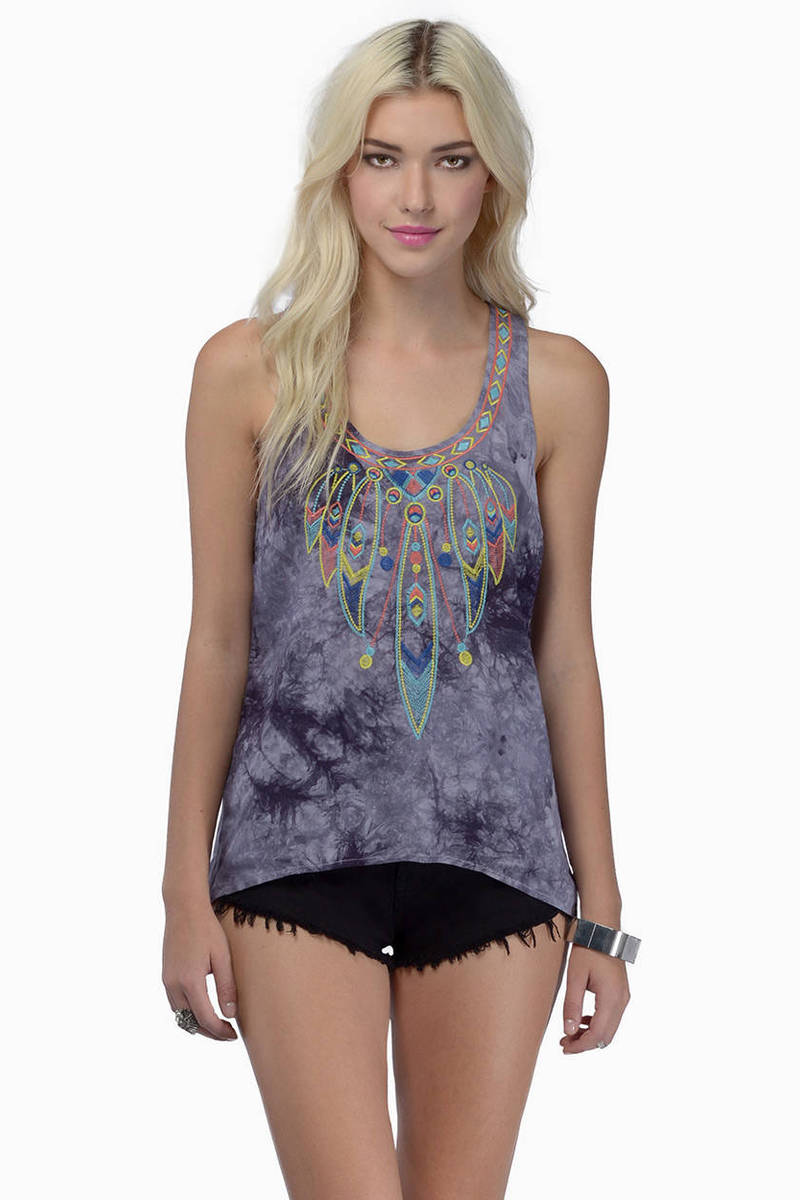 Starry Eyes Grey Tank Top