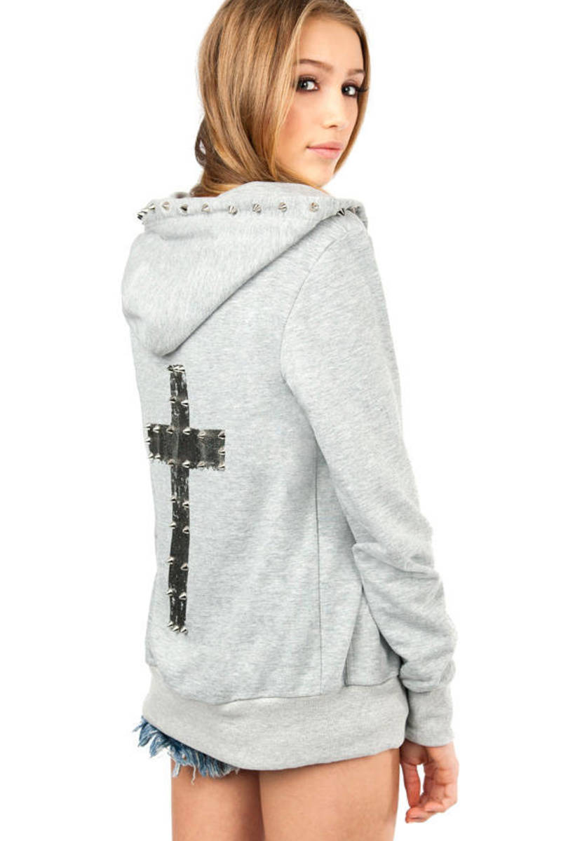 Stud My Crossed Back Hoodie