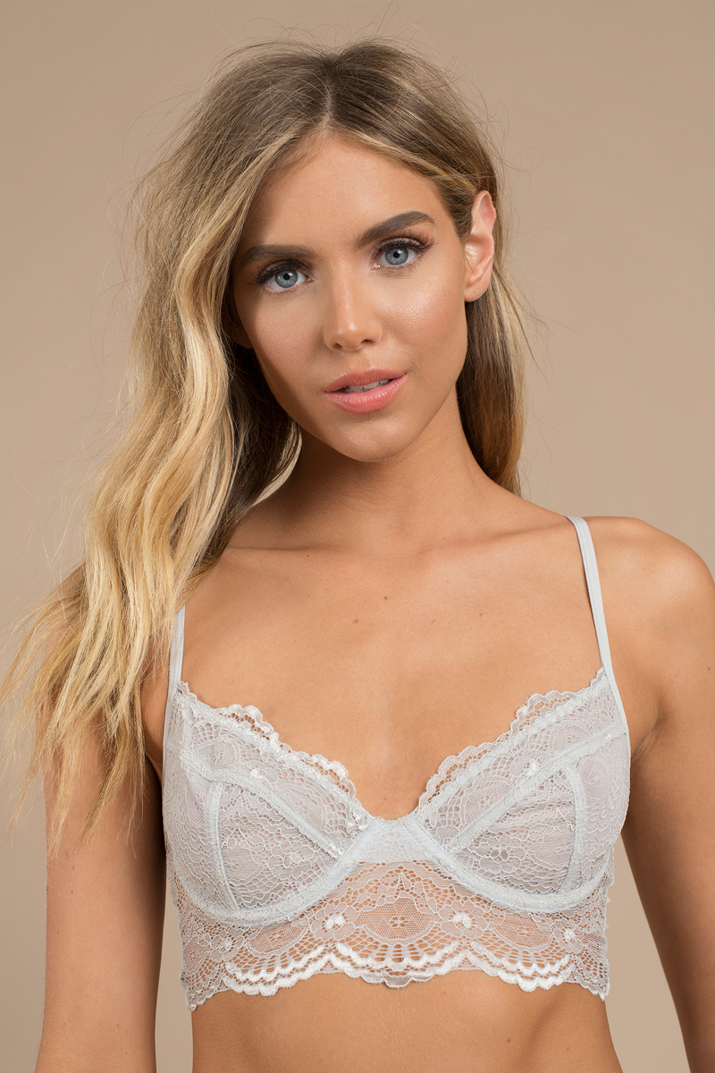Victoria Grey Lace Bra