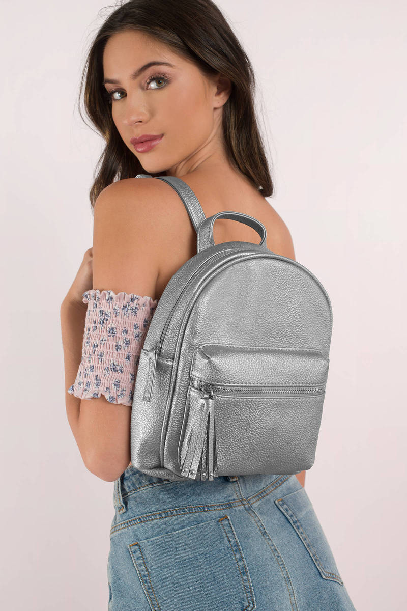Lillian Gunmetal Mini Backpack