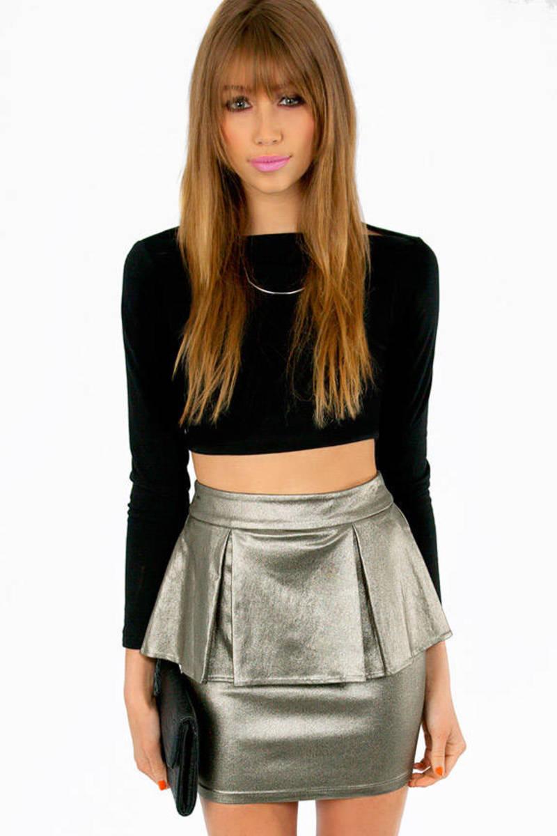 Panel Peplum Skirt