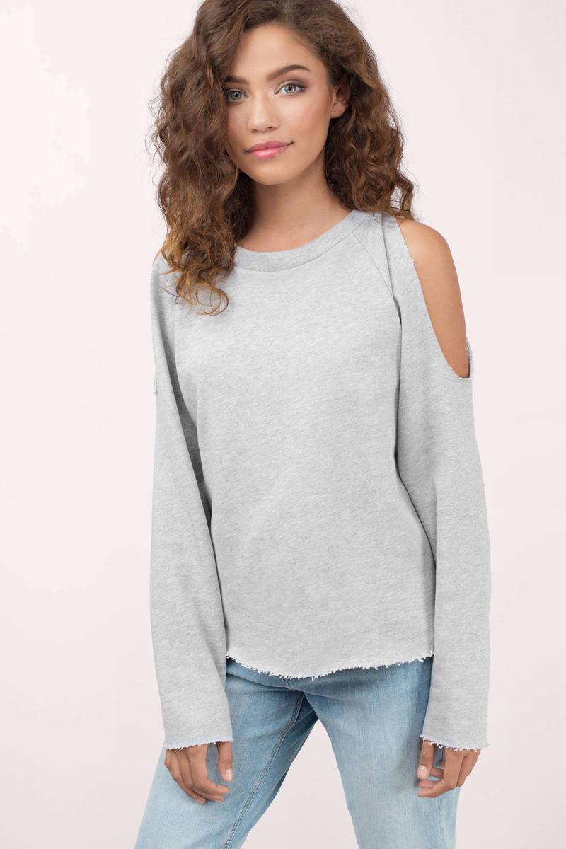 NYTT Nytt Chanty Heather Grey Sweatshirt