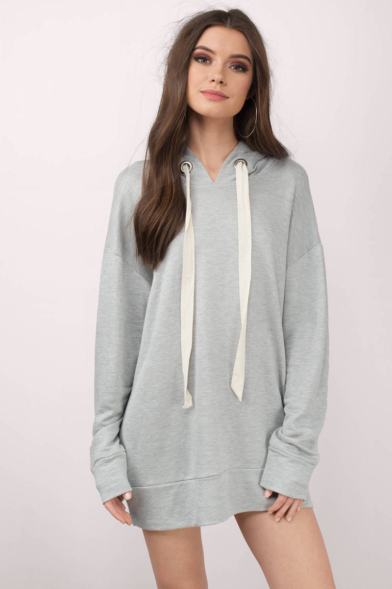 Chill Out Heather Grey Sweatshirt Dress