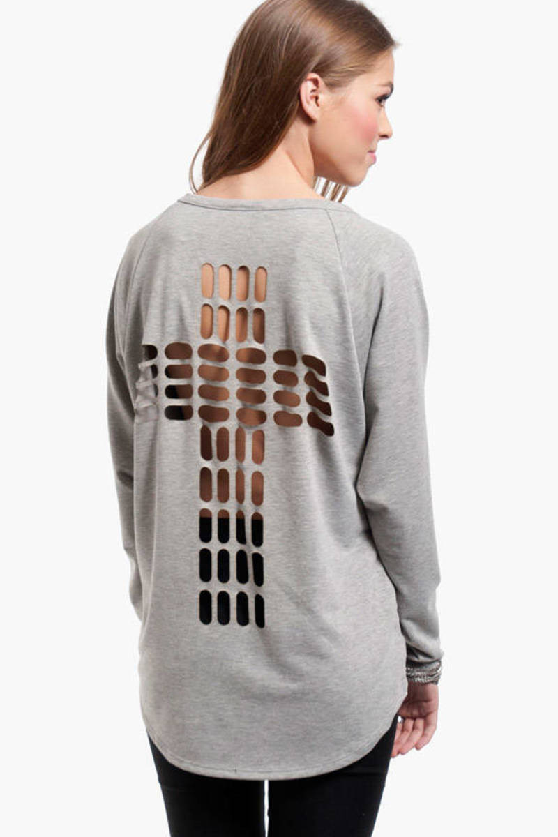 Cross Cutout Sweater
