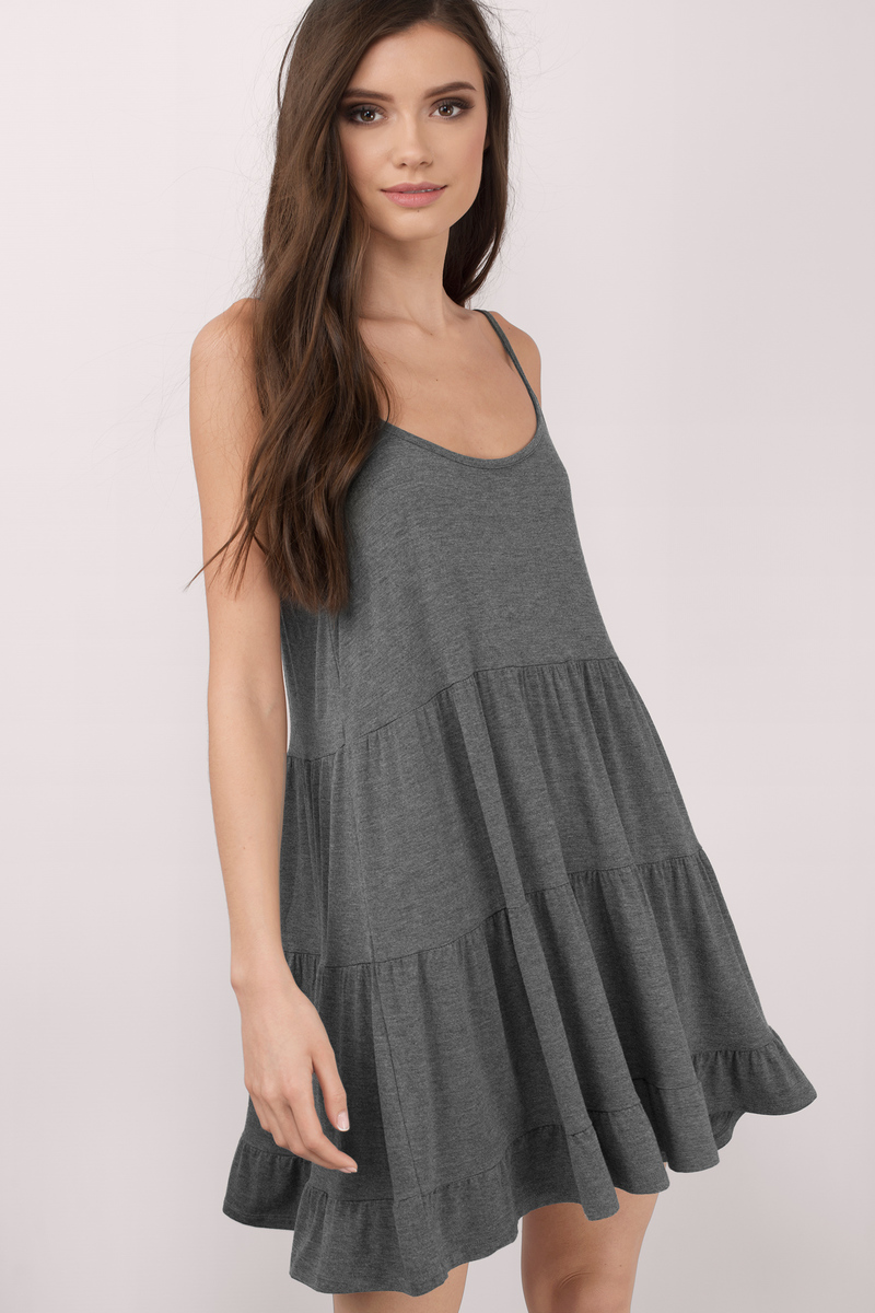 Katiana Heather Grey Day Dress