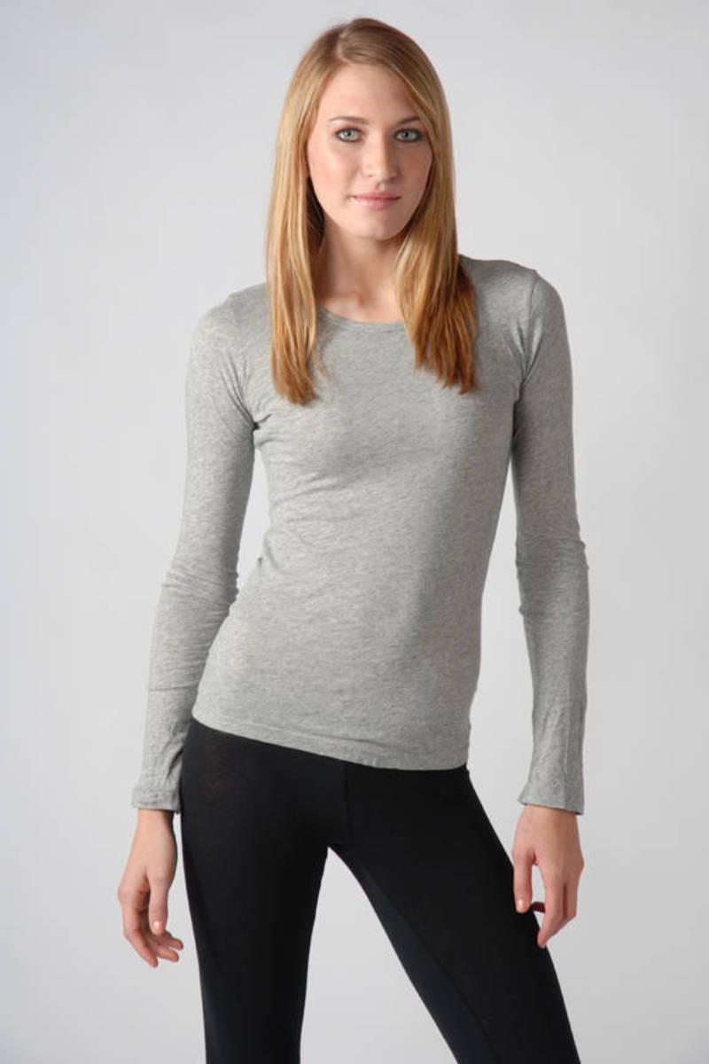 9c98d0dfb52c Heather Grey James Perse Tee - Crew Neck T Shirt - Heather Grey ...