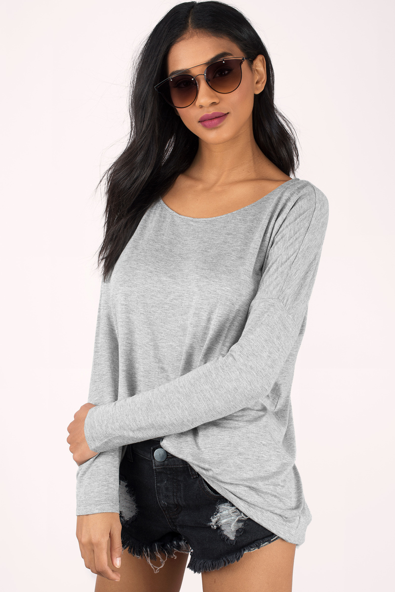 Looking Up Heather Grey T-Shirt
