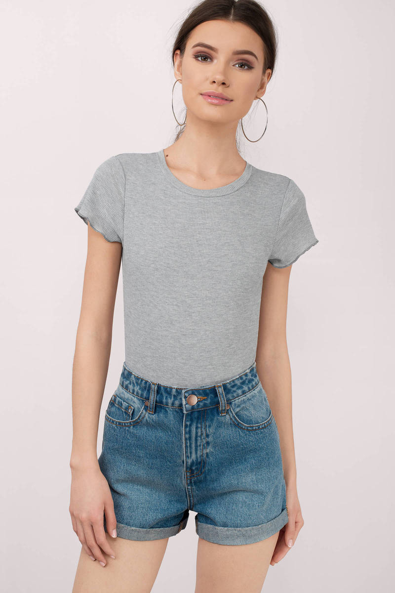 Simple Minds Heather Grey Bodysuit