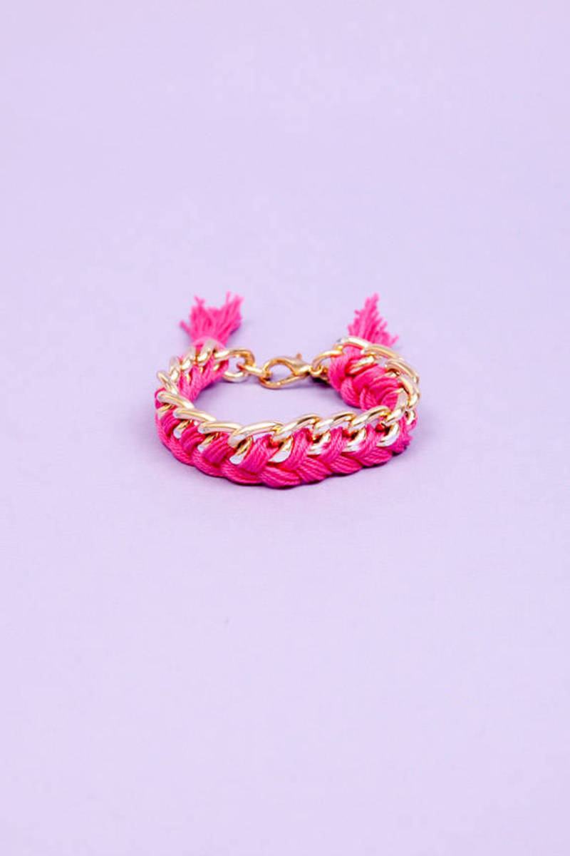 timi Braid In Chain Bracelet