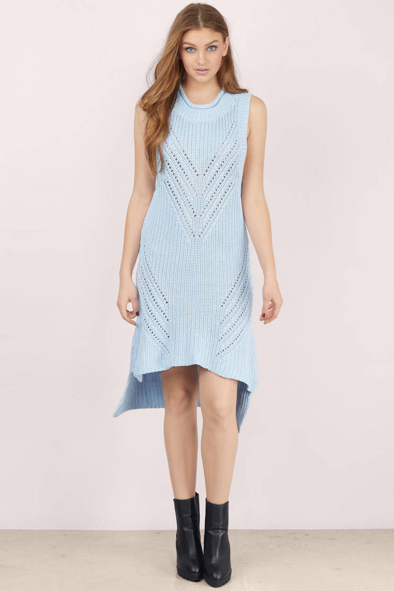 somedays lovin Somedays Lovin Overload Ice Blue Day Dress  sc 1 st  Tobi & Trendy Light Blue Day Dress - Sleeveless Dress - High Low Dress ...