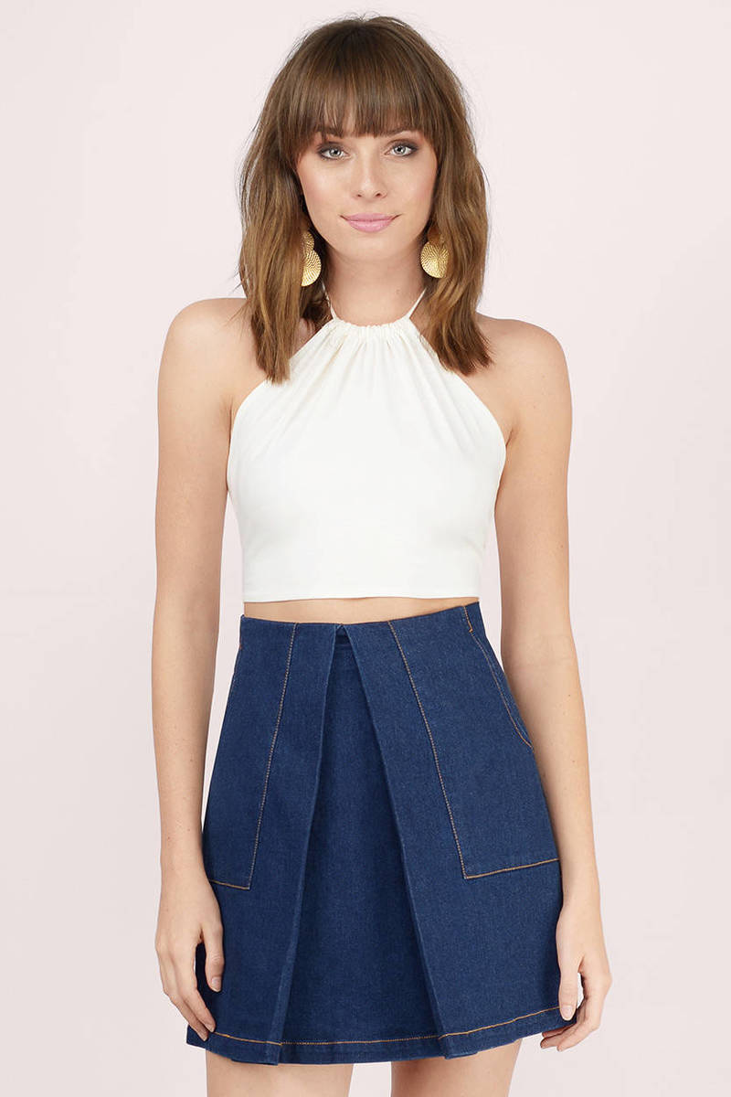 Finders Keepers Finders Keepers Flashback Indigo Denim Mini Skirt