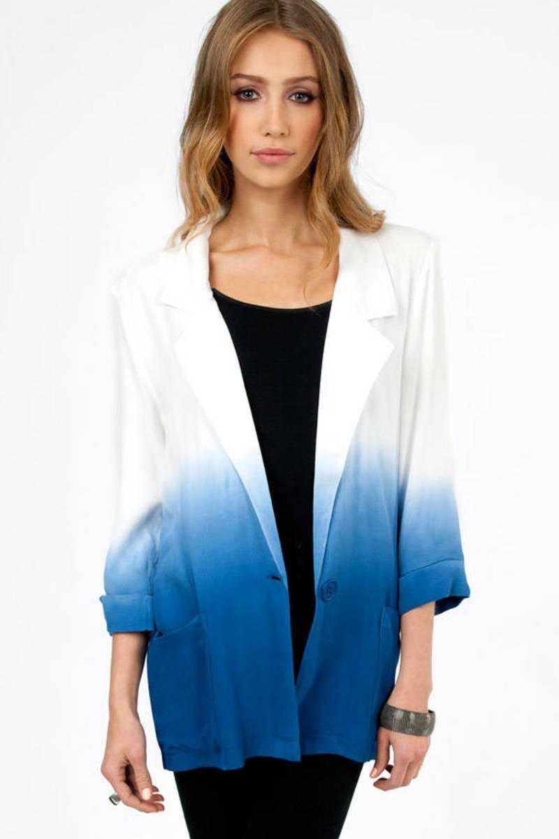 MINKPINK Great White Soft Blazer