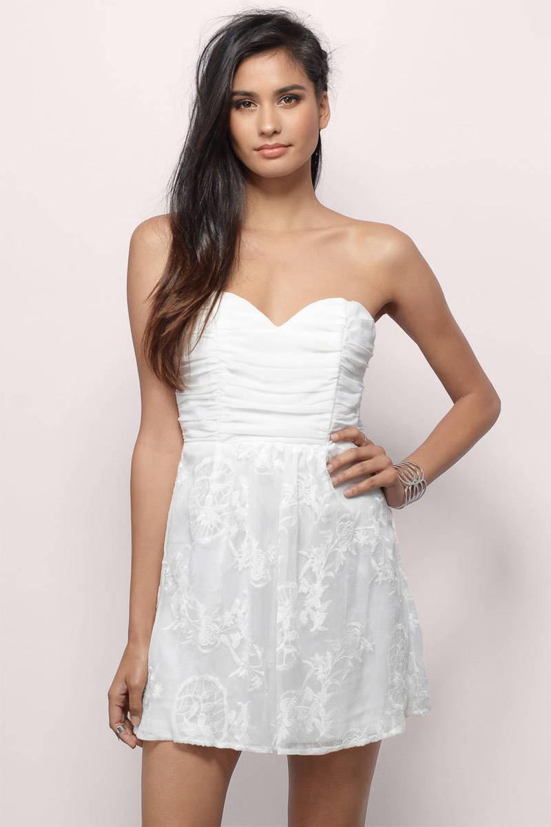 A Glance Of Elegance Ivory Bodycon Dress