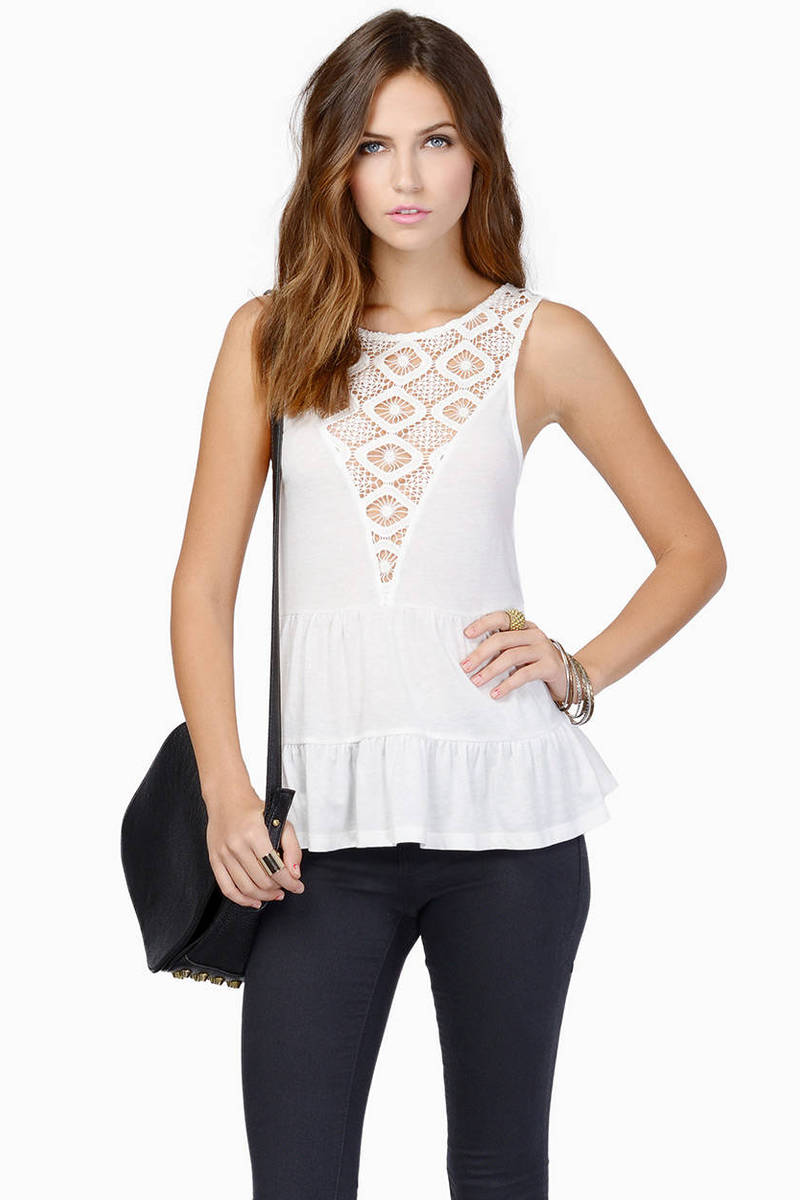 About A Girl Ivory Tank Top