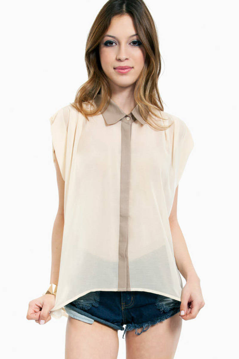 Ally Contrast Collar Top