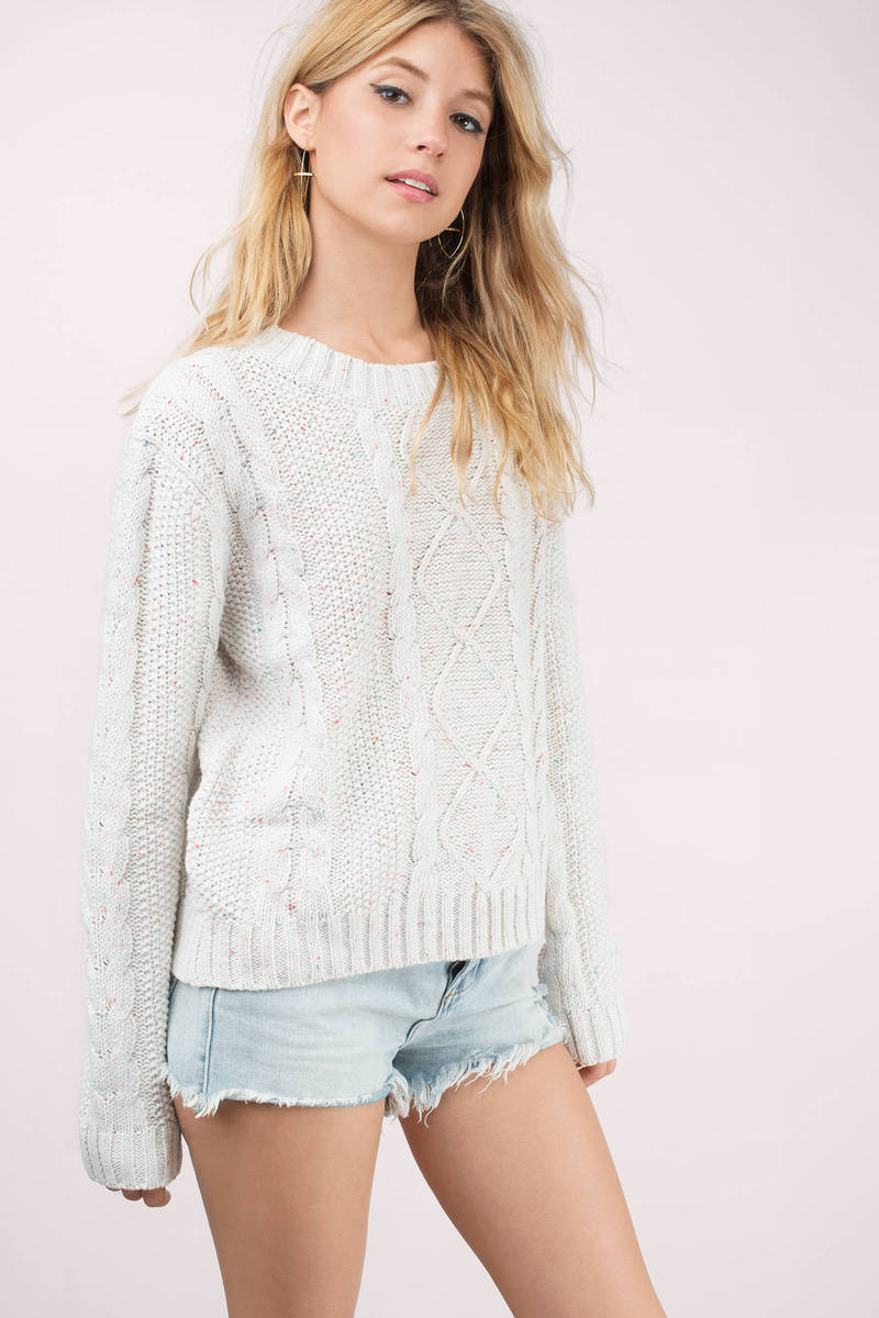 Another Day Ivory Knitted Sweater