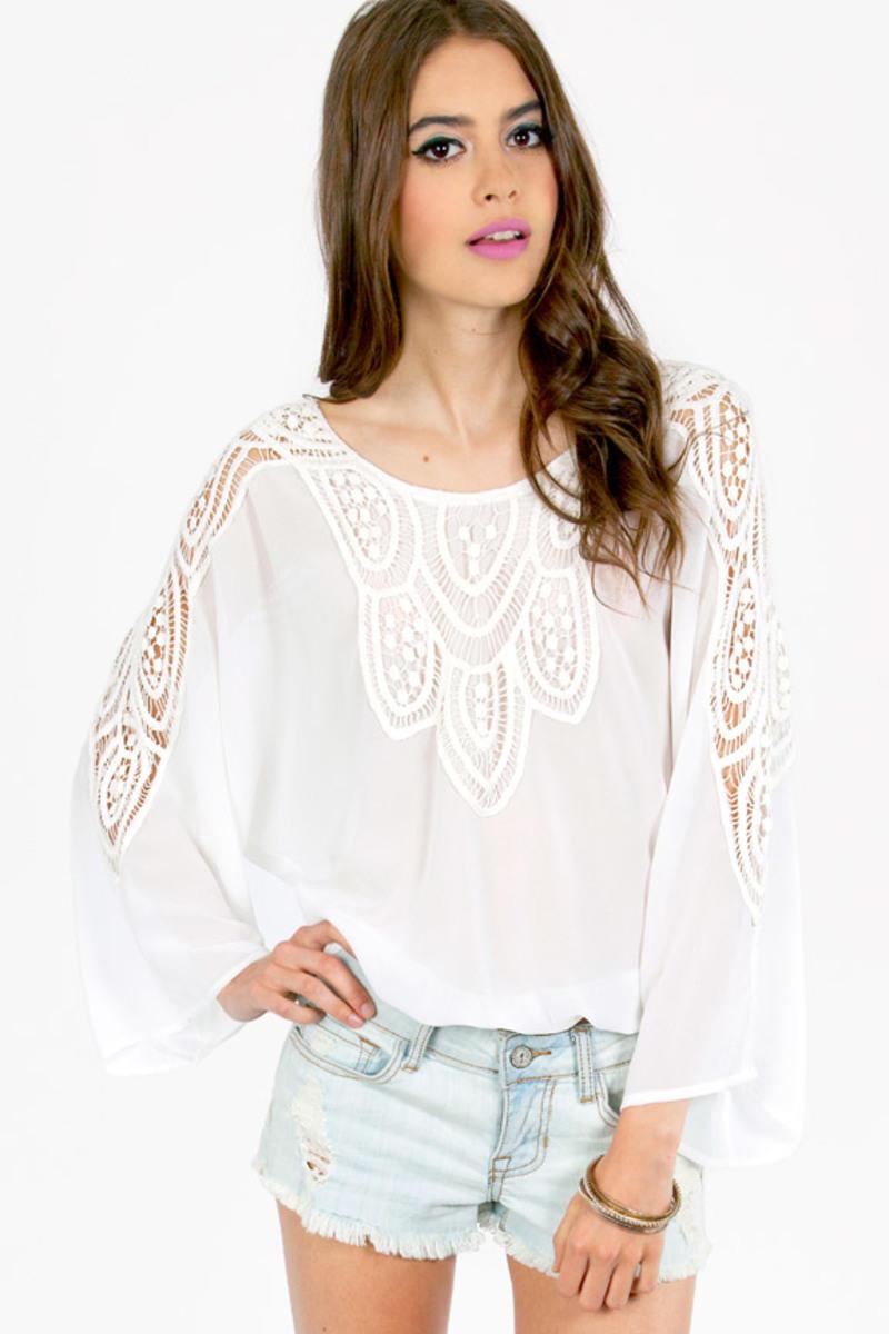 Bella Crochet Long Sleeve Top