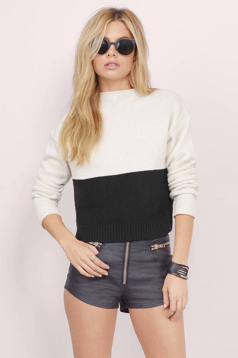 Adira Colorblock Knit Sweater