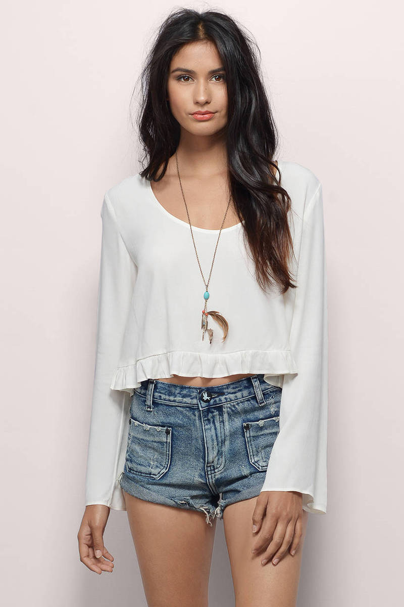 Boogie Nights Ivory Crop Top