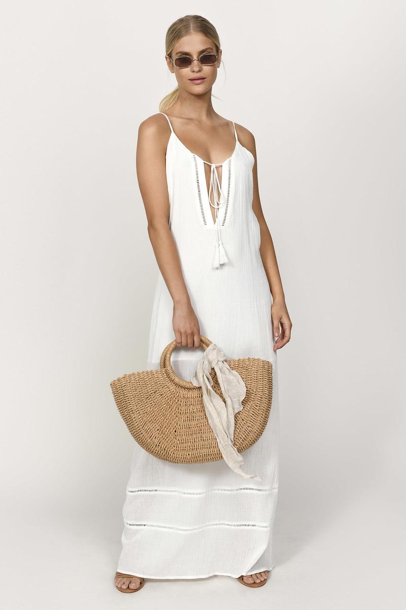 a3dfde94ffa3 Ivory Dress - Lace Trim Dress - Sheer Dress - Sleeveless Maxi Dress ...