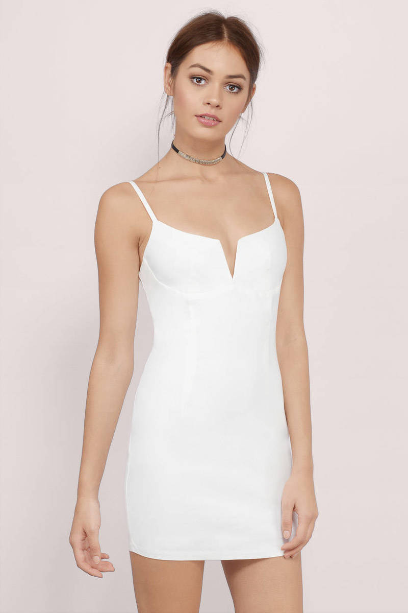 b79cb0fc4606e Sexy Ivory Bodycon Dress - Cut Out Dress - Bodycon Dress - $14 | Tobi US