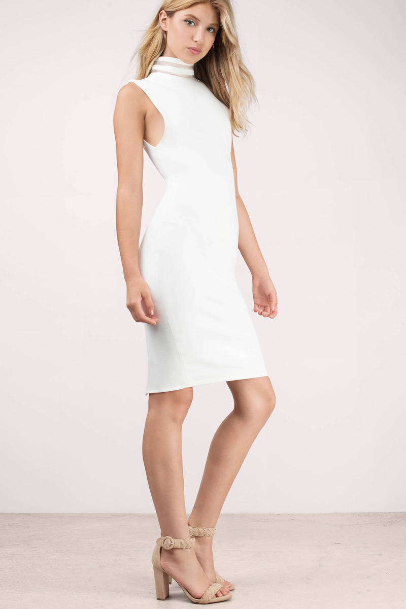 Bless'ed Are the Meek Bless'ed Are The Meek Conjoin Ivory Bodycon Dress