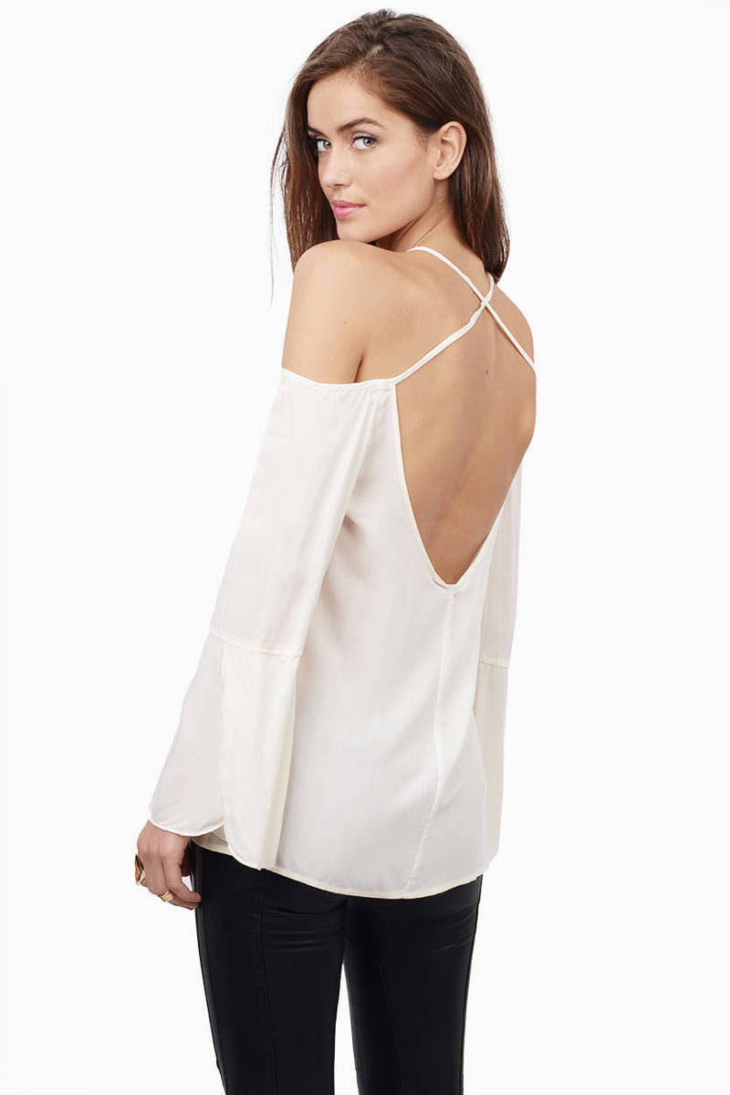 Crossing X's Ivory Blouse