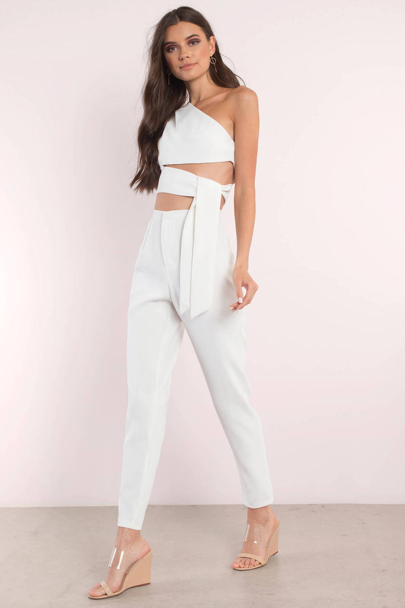 Destiny Ivory Jumpsuit Set