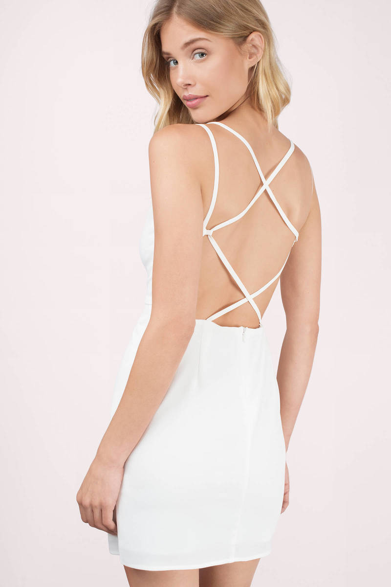 Don't Leave Me Ivory Bodycon Dress