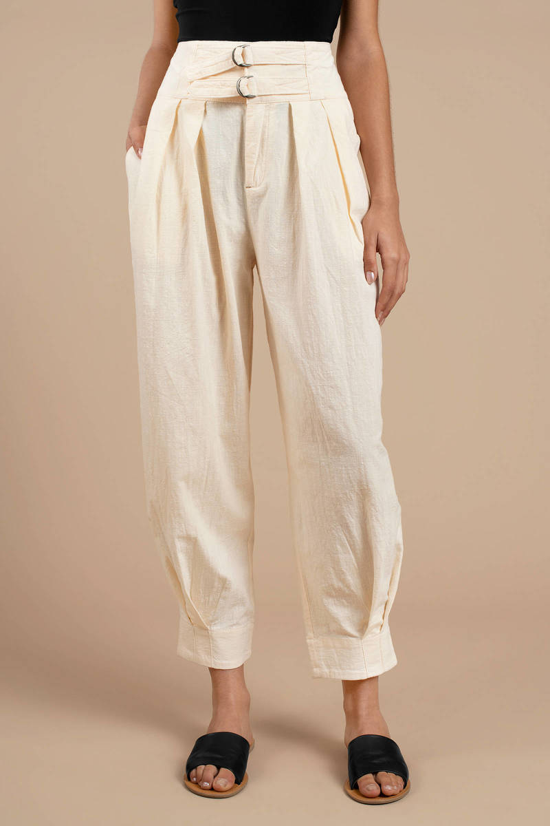 terrific value top brands popular design Double Buckle Trouser