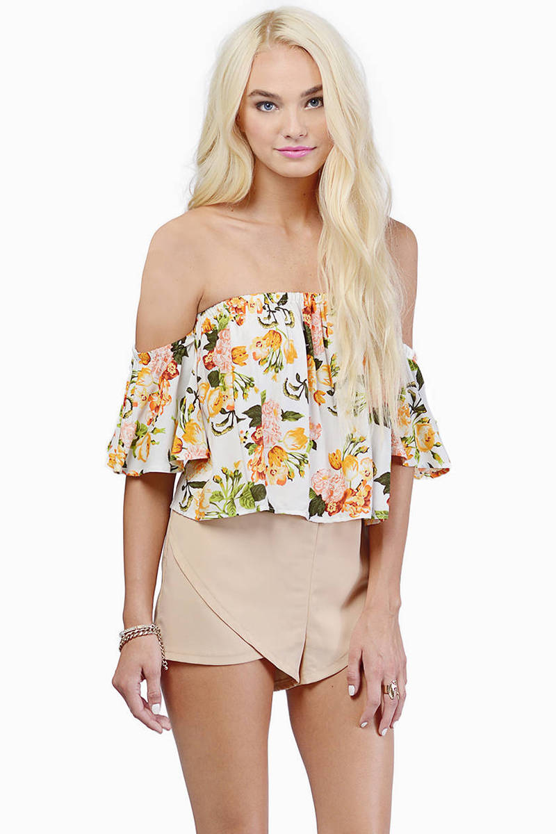 Efflorescence Ivory Crop Top