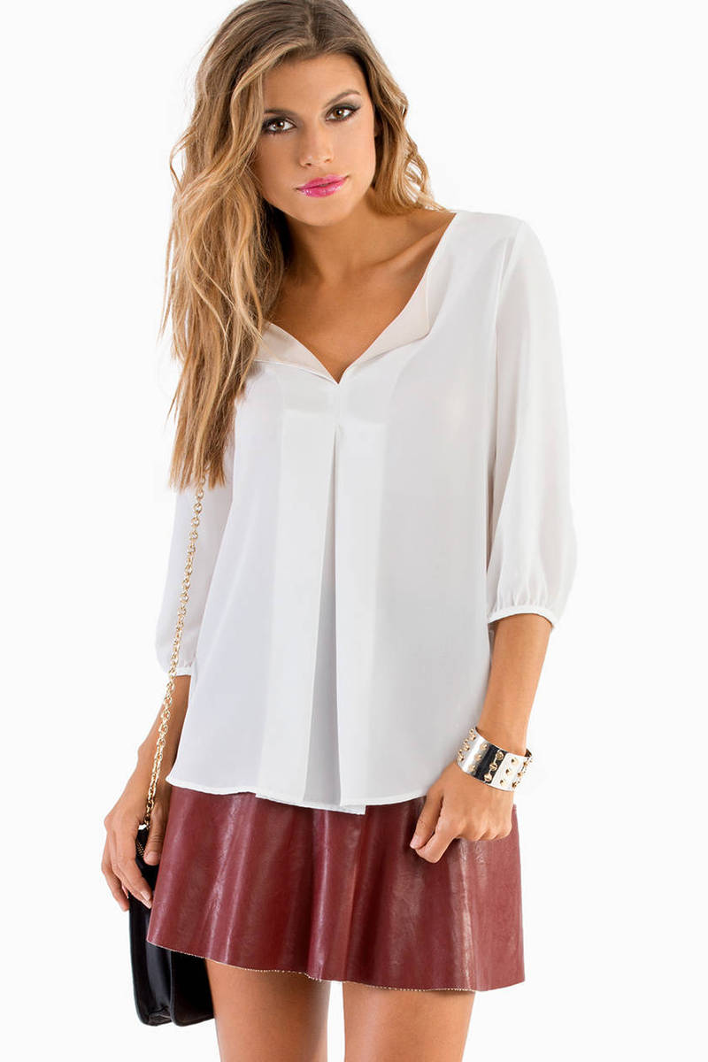 Fancy Folds Blouse