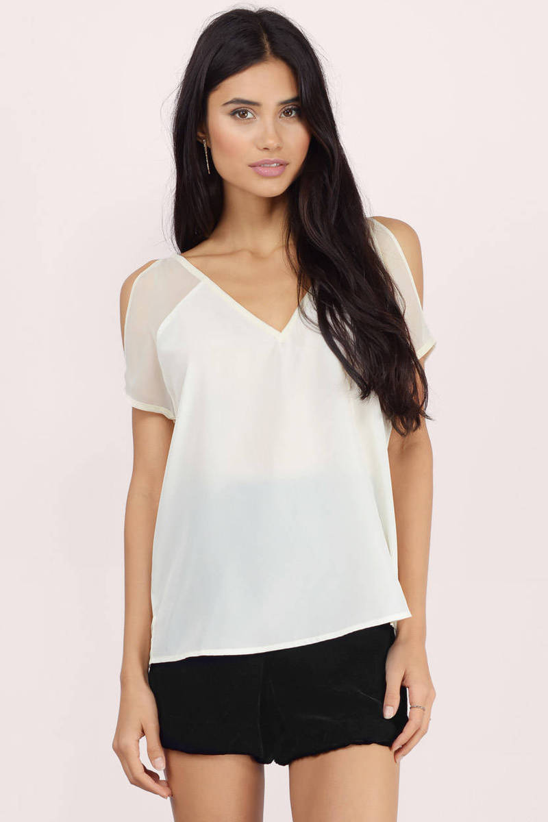 Fleeting V Neck Blouse
