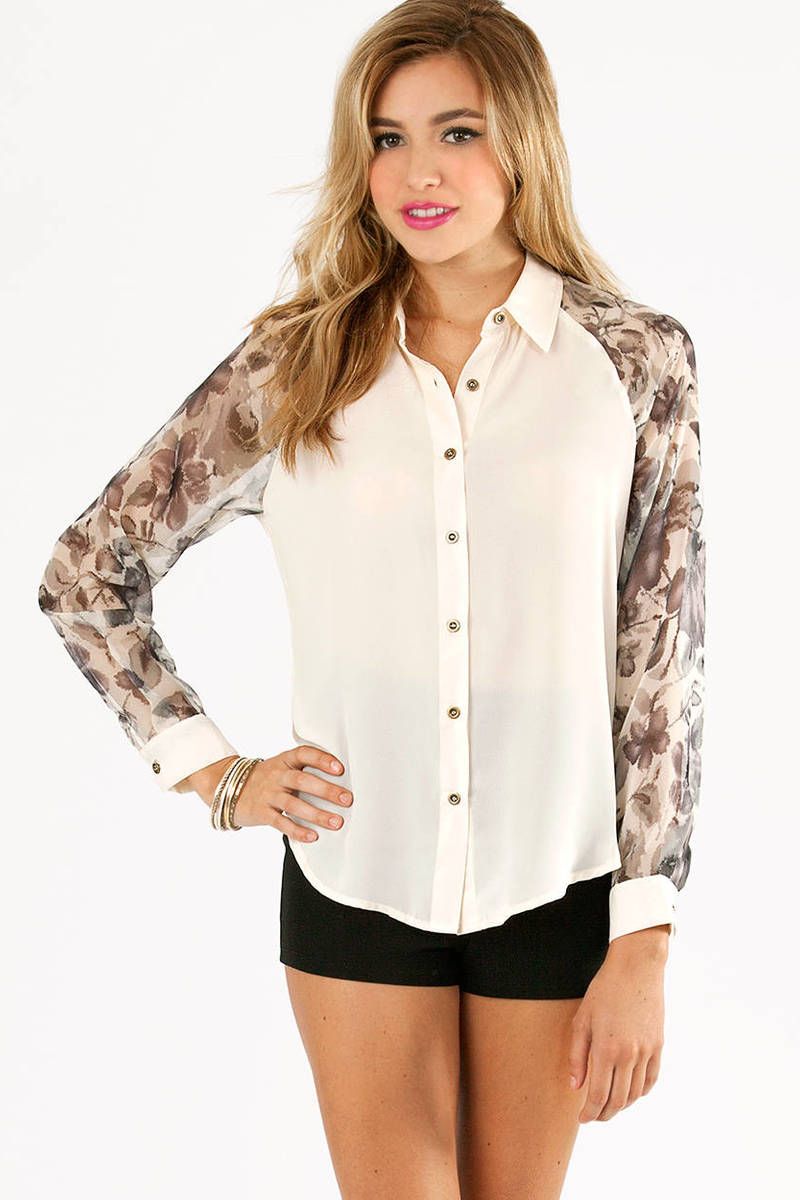 Floral Blocked Blouse
