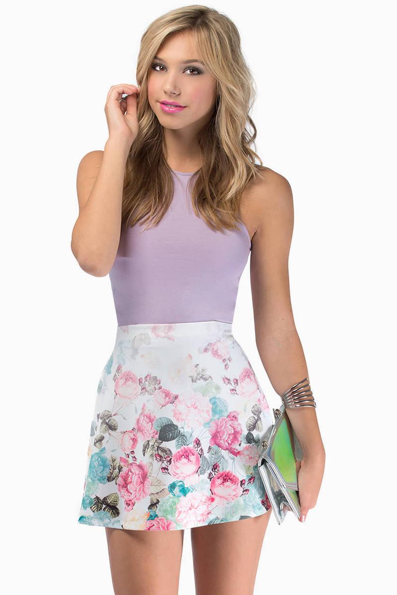 Bloomy Day Flare Skirt