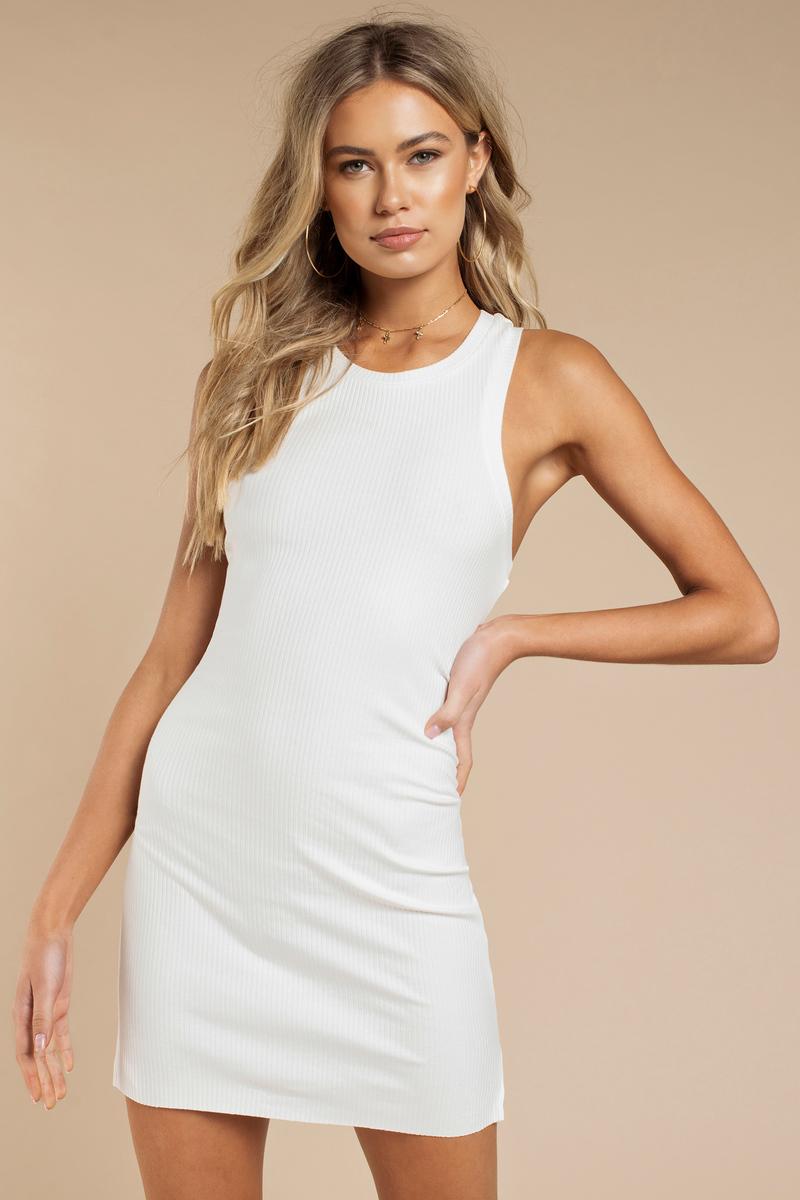 3f20b62e53 Cute Ivory Bodycon Dress - Racerback Dress - Bodycon Dress -  8 ...