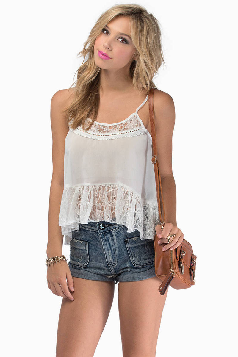 Forever Young Ivory Tank Top